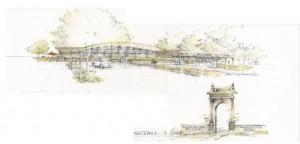Artist's rendering of the Salish Crossing redevelopment.