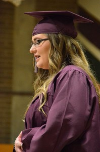 Graduating senior Monica Burdick opened the 2014 Scriber Lake High School commencement program by singing The Star Spangled Banner.