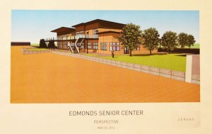 The preliminary concept from Zervas looking south at the northeast corner of the building.