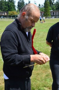 """Barnaby Ruhe traveled all the way from New York City to compete in Saturday's tournament. """"I've been doing this for more years than I'd care to say,"""" said Ruhe, who has demonstrated boomerang tossing on Jay Leno's Tonight Show."""