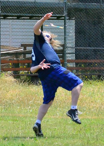 Stevie Kavanaugh of Ballard lines up for a behind-the-back catch.