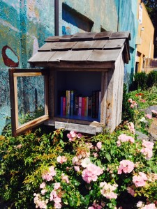 Edmonds' first Little Free Library, located outside Waterfront Coffee at 101 Main St.
