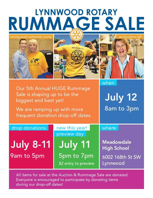 2014 Rummage Sale Flyer