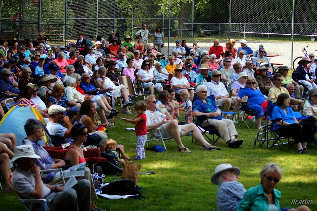 The concert drew an estimated 200 people to City Park.