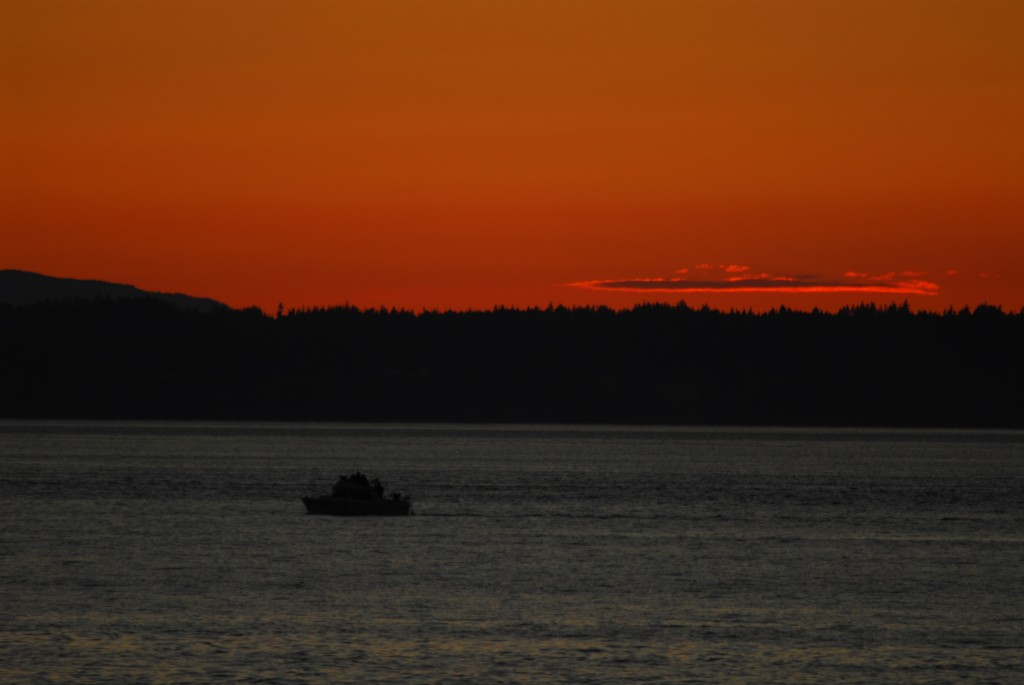 Saturday's sunset, from Ken Sjodin.