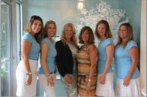 Pur Skin Clinic employees at second-anniversary celebration.