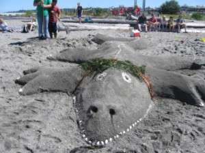 What new creatures will dot the beach during the Aug. 12 sand sculpting contest?