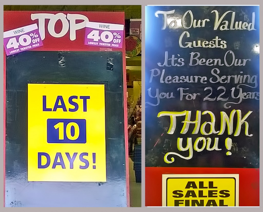 Char Blankenship on Sunday captured the countdown to the closure of Edmonds' TOP Foods, with deep discounts continuing. No word yet on what may go into the space.