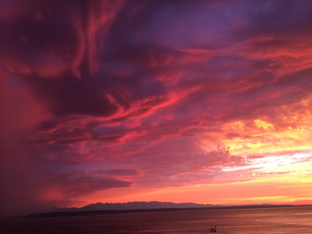 A sunset photo from Carol Kinney.