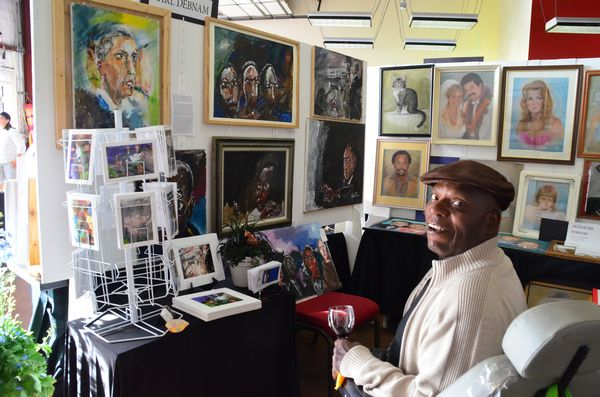 Earl Debnam is showing his work for the first time at ArtSplash.  Debnam is part of the Special Artists Group that meets regularly at the Art Works.