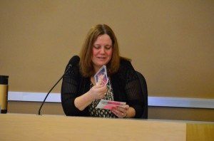 Rose Adams takes the stand in her own defense at her jury trial in February 2014.