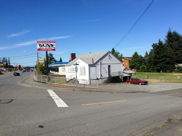J.T. Retail had proposed to open a retail marijuana store in the abandoned gun store at 23329 Highway 99.