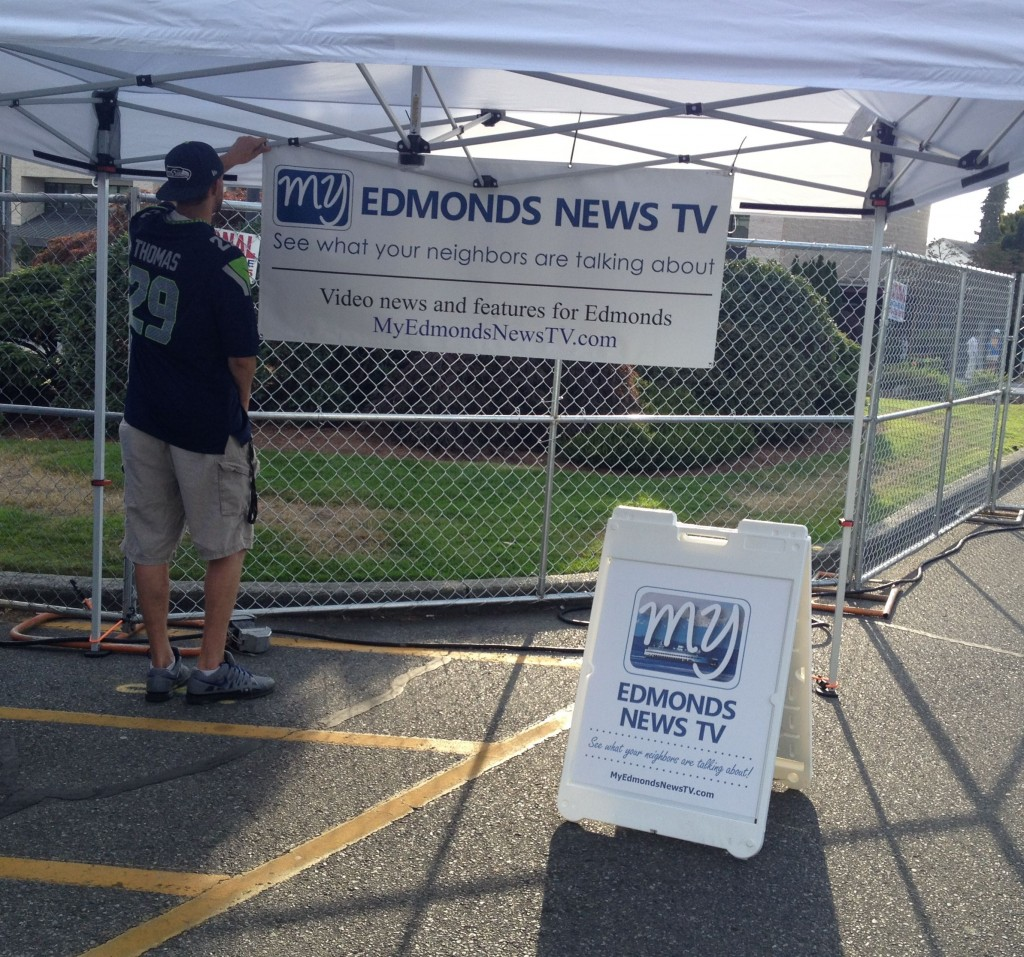 Stop by the My Edmonds News TV booth or look for our sandwich board sign throughout the Taste. We want you to tell us your favorite food, band or kids' ride, and you may end up on My Edmonds News TV!