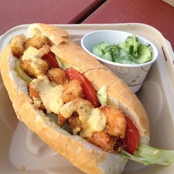 Shrimp Po Boy at Here and There Grill