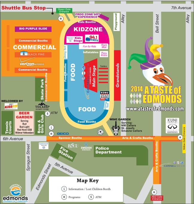 Taste of Edmonds 2014 Map