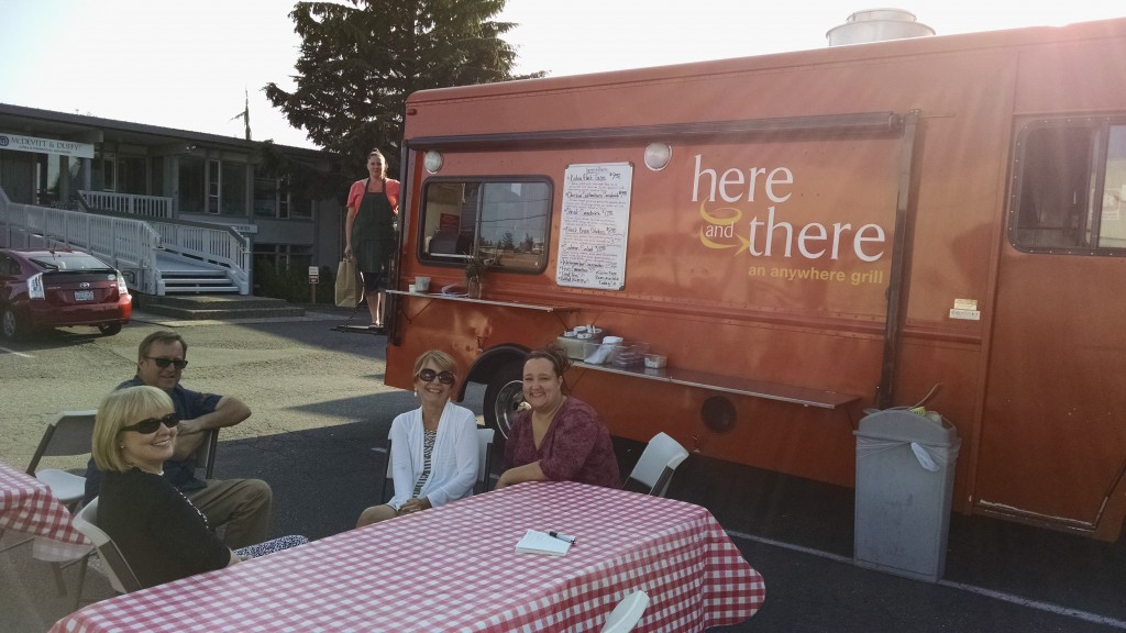 Here and There diners can sit outside at the 4th and Dayton location Wednesdays.