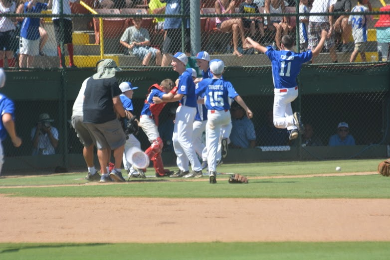 Players were jumping for joy after earning a trip to the Little League World Series.