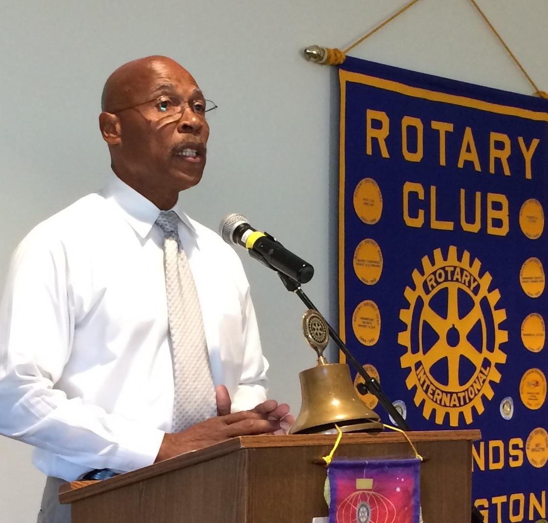 John Lovick speaks to the Edmonds daytime Rotary Club Tuesday.