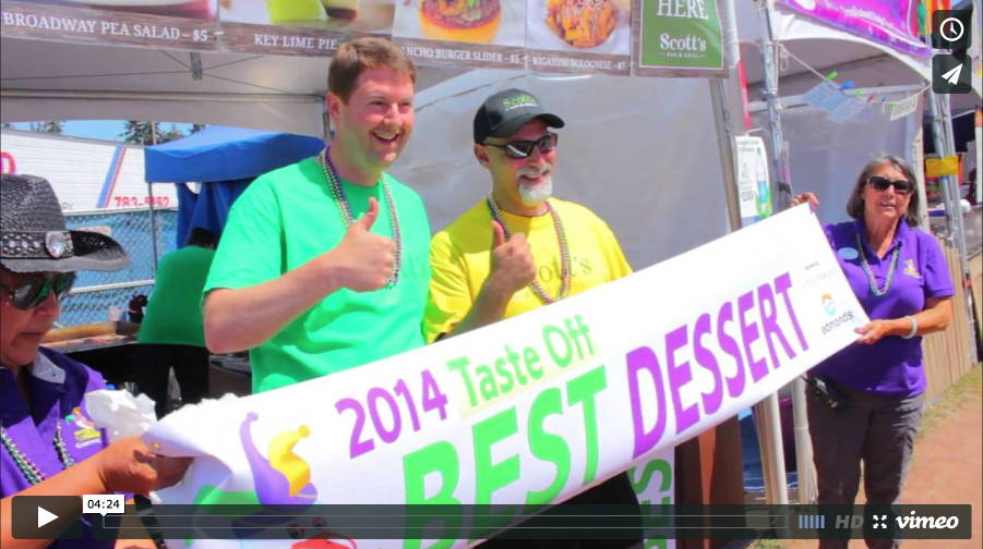 Edmonds' own Scott's Bar and Grill walked away with two awards in the Taste of Edmonds Tasteoff, where judges pick their favorite main dish, side dish and dessert. Also, favorite foods of those attending the Taste Friday. (Videography by Brandon Jennings)