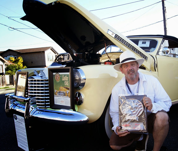 Best of Show Winner, Scott Anderson, and his 1941 Cadillac Series 62 Convertible Coupe.
