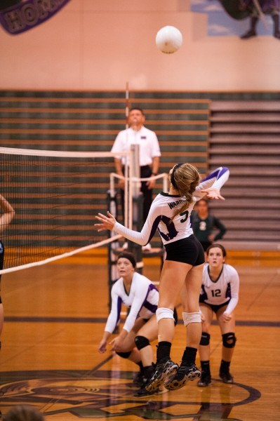 Amanda Paavola on the spike. (Photos by Ken Pickle)