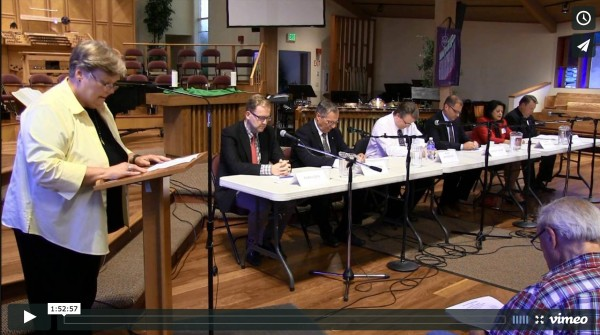 The six candidates for Washington's 21st Legislative District, which includes much of Edmonds, came together in a public forum on Tuesday evening, Sept. 16, to answer questions and state their positions on a range of issues. Click on the photo to watch the entire forum.