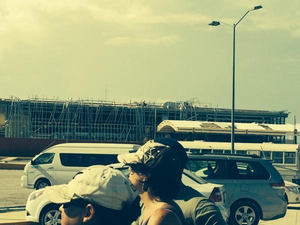 Damage at the Los Cabos airport.