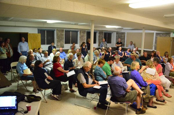 More than 100 citizens attended the meeting, drawn together by their common concern for the future of Edmonds.