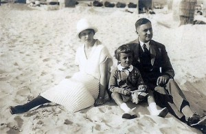 Martha Kraencke and her famly at the beach.