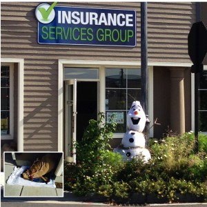 Insurance Services Group - 600 Main St. - Inspired by a favorite Disney movie. Guess?  Team: Trevor Campbell, Skye Harvey, Crystal Edwards.