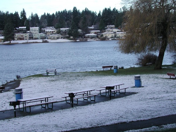 Edmonds Scenic Snowfall On Lake Ballinger My Edmonds News
