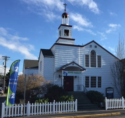 The North Sound Church is located across the street from the Edmonds Conference Center.