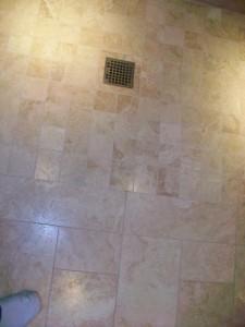 Master bath shower pan