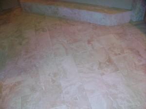 Bath floor and step