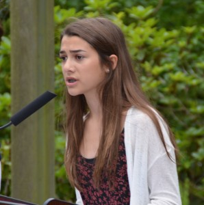 Also speaking during the event was Edmonds-Woodway High School freshman Olivia Olson, winner of the VFW 8870's annual essay contest.