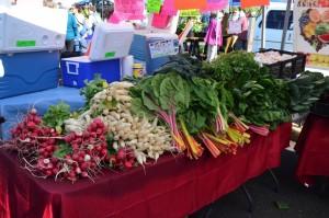 Early season vegetables.