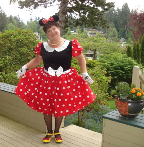 Minnie Mouse, AKA Joyce Altaras, just one of the many characters who will perform June 6 in Sno-King Community Chorale Disney Dreams concert at Edmonds Center for the Arts.