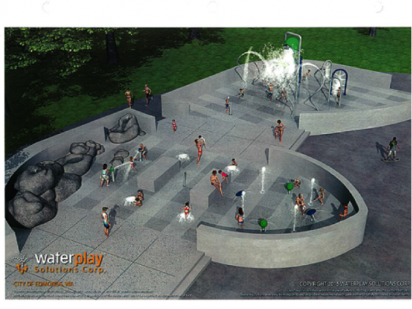 Artistic rendering of planned City Park Spray Park.