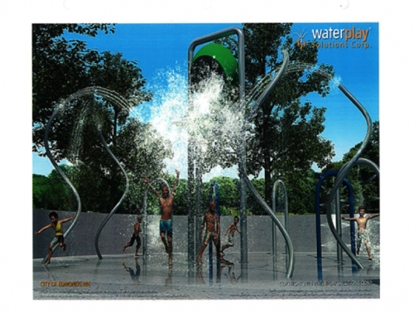 Artistic rendering of planned City Park Spray Park.