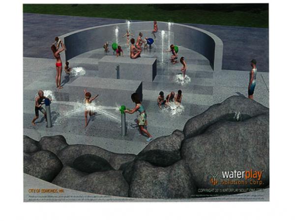 More spray park renderings.