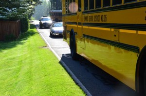 Traffic along 236th Street Southwest gets very heavy at school opening and dismissal times, making the students' walk even more hazardous.  The problem becomes more acute in winter when motorists' visibility is impaired by rain and darkness.