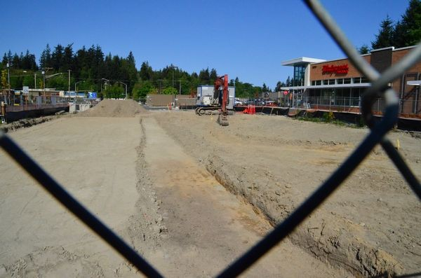 Construction activity has begun on the new Westgate Starbuck's drive-through. Scheduled to open in June, the new  Starbucks will  occupy the space between the Walgreen's Drug and Edmonds Way, SR 104.
