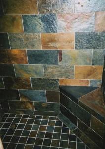 Basque slate shower.