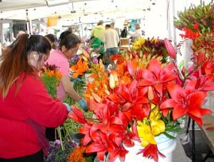 Fresh flowers at last year's summer market.