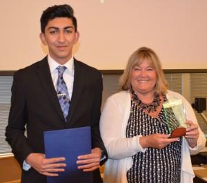 2014-15 student representative xxx with Council President Adrienne Fraley-Monillas.
