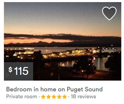 Airbnb posting for an Edmonds stay.