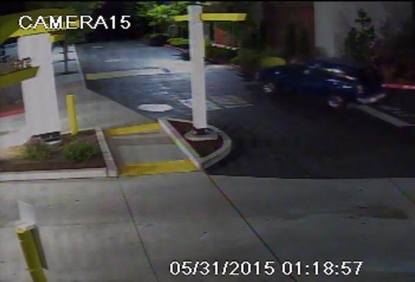 Two photos of the suspects' vehicle, courtesy of Edmonds police.