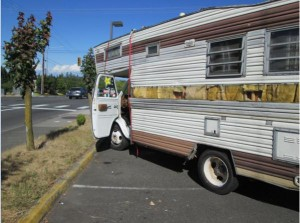 The motor home involved in the pursuit. (Photo courtesy Edmonds police)
