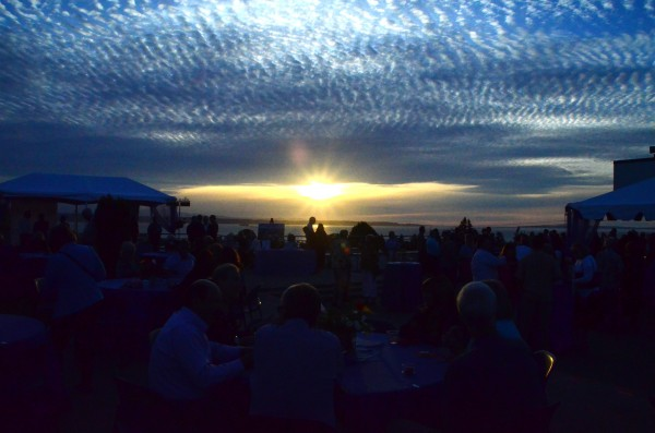 From Larry Vogel, one more photo from the Edmonds Arts Festival's Wednesday night pARTy, taken from the roof of the Edmonds Library.