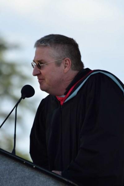 Teacher Dave Millette, chosen by students to speak.